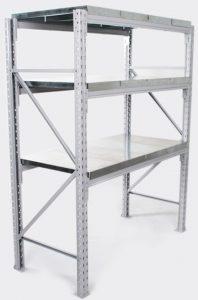 metal shelving rack