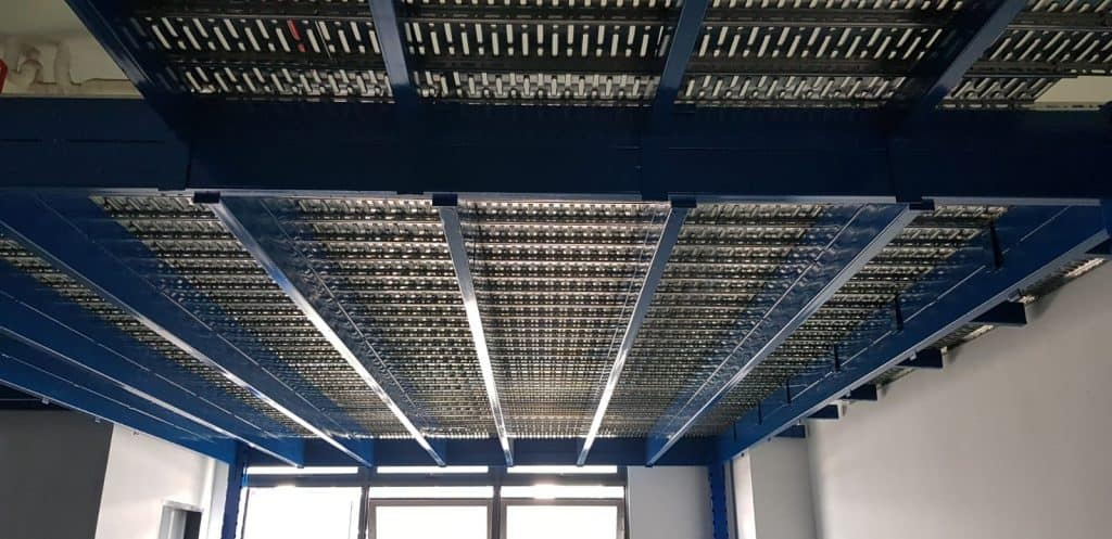 Newly installed rack overhead