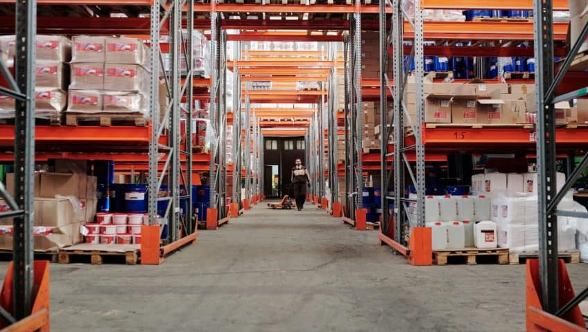 Superblock Racking in Warehouse