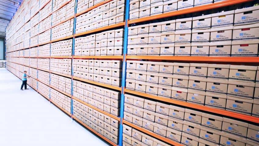 heavy duty racks in warehouse